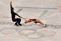 Russia's Yevgenia Tarasova and Vladimir Morosov give a figure skating pair performance in the Gangneung Ice Arena at the Winter Olympics in Pyeongchang, South Korea, 9 February 2018. Photo: Peter Kneffel/dpa /MediaPunch ***FOR USA ONLY***