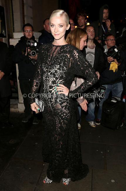 WWW.ACEPIXS.COM<br /> <br /> US Sales Only<br /> <br /> September 15 2013, London<br /> <br /> Portia Freeman arrives at the Vogue dinner held at Balthazar during London Fashion Week SS14 on September 15 2013 in London<br /> <br /> By Line: Famous/ACE Pictures<br /> <br /> <br /> ACE Pictures, Inc.<br /> tel: 646 769 0430<br /> Email: info@acepixs.com<br /> www.acepixs.com