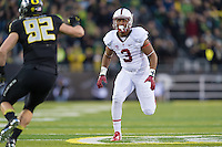 EUGENE, OR - NOVEMBER 1, 2014:  Noor Davis during Stanford's game against Oregon. The Ducks defeated the Cardinal 45-16.