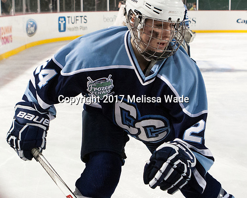 Olivia Good (CC - 24) - The Babson College Polar Bears defeated the Connecticut College Camels 3-0 on Thursday, January 12, 2017, at Fenway Park in Boston, Massachusetts.