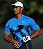 Tiger Woods watches his drive from the 4nd Hole during a practice round prior to the U.S. Open Championship at Shinnecock Hills Golf Club in Southampton on Tuesday, June 12, 2018.