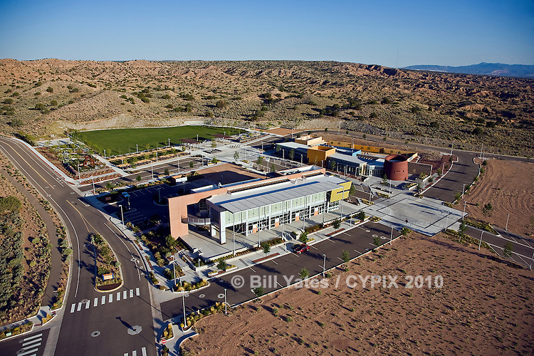 Mariposa at Rio Rancho, NM - A High Desert Investment Corporation development; Designed by Dekker/Perich/Sabatini helicopter aerial