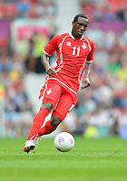 July 26, 2012..UAE's Ahmed Khalil (11). UAE vs Uruguay Football match during 2012 Olympic Games at Old Trafford in Manchester, England. Uruguay defeat United Arab Emirates 2-1...
