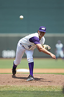 Winston-Salem Dash starting pitcher Blake Battenfield (32) delivers a pitch to the plate against the Buies Creek Astros at BB&T Ballpark on July 15, 2018 in Winston-Salem, North Carolina. The Dash defeated the Astros 6-4. (Brian Westerholt/Four Seam Images)
