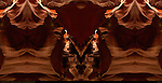 Bison Skull and Fractal Entrance, Fractal Composite, Upper Antelope Canyon, Tse-Bighanilini, Slot Canyon, Lake Powell Navajo Tribal Park, Page, Arizona