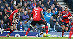 07.04.2018 Rangers v Dundee:<br /> James Tavernier finds his way to goal blocked