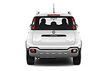 Straight rear view of 2017 Fiat Panda Cross 5 Door SUV Rear View  stock images