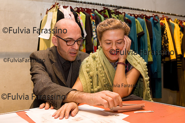 Milano 20/12/2007.Antonio Marras.Antonio Marras at work in his showroom