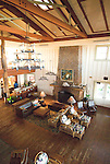 Hawaii: Molokai, The Lodge at Molokai Ranch, a major lodging with a handsome facade, swimming pool, Great Room lobby, and ranch-decor guest roooms..Photo himolo188-72368..Photo copyright Lee Foster, www.fostertravel.com, lee@fostertravel.com, 510-549-2202