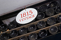 old bottles in the cellar 1815 ferreira port lodge vila nova de gaia porto portugal