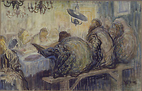 Moshe Rynecki painting - Jews at study<br /> Chasing Portraits (2018) <br /> *Filmstill - Editorial Use Only*<br /> CAP/RFS<br /> Image supplied by Capital Pictures