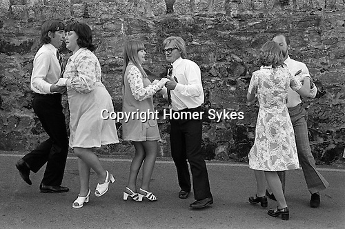 The Morning Dance, Helston Floral (Furry) Dance, Cornwall. May day 1976