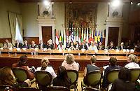 Roma, 23 Settembre 2013<br /> European meeting of Integration Ministers<br /> Palazzo Chigi<br /> Incontro Europeo contro le discriminazioni e il razzismo.<br /> 17 Paesi europei firmano la dichiarazione di Roma per la lotta al razzismo.<br /> La Ministra per l'integrazione Cécile Kyenge