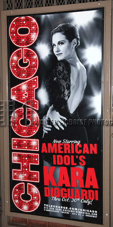 """Kara DioGuardi (Grammy-nominated songwriter and former """"American Idol"""" judge) at the Stage Door after making her Broadway Debut as Roxie Hart in 'CHICAGO' on Broadway at the Ambassador Theatre in New York City."""