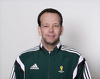 FUSSBALL Fototermin FIFA WM Schiedsrichterassistenten 09.04.2014 Kim HAGLUND (Norwegen)