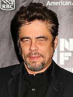 NEW YORK CITY, NY, USA - OCTOBER 04: Benicio del Toro arrives at the 52nd New York Film Festival - 'Inherent Vice' Centerpiece Gala Presentation & World Premiere held at Alice Tully Hall on October 4, 2014 in New York City, New York, United States. (Photo by Celebrity Monitor)