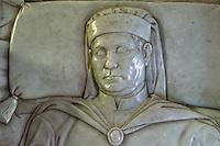 Italien, Toskana, Certaldo Alto, Grab Boccaccio in Santi Jacopo e Filippo