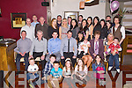 BABY JOY: Proud parents Jason and Yvonne Moriarty, Cluainard, Ballyvalley Tralee (seated 4th & 5th left) of little Ava who was Christening by Fr Sean Hanafin at St John's Church, Tralee and celebrated afterwards with family and friends at Gally's bar and restaurant, Tralee on Saturday.