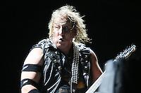 SAO PAULO, SP, 22.03.2014 - baixista John Gallagher  durante apresentação da banda Raven no estádio do Morumbi, em São Paulo, na noite deste sábado.(Foto: Vanessa Carvalho / Brazil Photo Press).