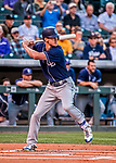 16 September 2017: San Diego Padres first baseman Wil Myers in action against the Colorado Rockies at Coors Field in Denver, Colorado. The Rockies shut out the Padres 16-0 in the second game of their 3-game divisional series. Mandatory Credit: Ed Wolfstein Photo *** RAW (NEF) Image File Available ***