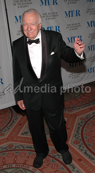 26 May 2005 - New York, New York - Walter Cronkite arrives at The Museum of Television and Radio's Annual Gala where Merv Griffin is being honored for his award winning career in radio and television.<br />Photo Credit: Patti Ouderkirk
