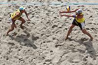 BERLIN, ALEMANHA, 11 JULHO 2012 - GRAND SLAM BERLIN DE VOLEI DE PRAIA - A dupla brasileira Alison e Emanuel durante o Smart Grand Slam Berlin de Volei de Praia, na capital da Alemanha, nesta quarta-feira, 11. (FOTO: PIXATHLON / BRAZIL PHOTO PRESS).