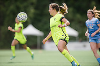 Seattle, WA - Sunday, May 22, 2016: Seattle Reign FC defender Paige Nielsen (12) during a regular season National Women's Soccer League (NWSL) match at Memorial Stadium. Chicago Red Stars won 2-1.
