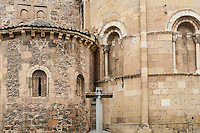 Iglesia de San Andrés, detail of church, Segovia, Spain
