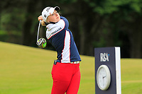 Marie Lund-Hansen (DEN) on the 1st tee during Round 2 of the Women's Amateur Championship at Royal County Down Golf Club in Newcastle Co. Down on Wednesday 12th June 2019.<br /> Picture:  Thos Caffrey / www.golffile.ie