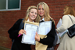 Katelyn Connor, Sophie Ormiston<br /> who collected there Junior cert results<br /> Picture Fran Caffrey www.newsfile.ie