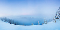 Sunset wnter panorama , Crater Lake, Oregon