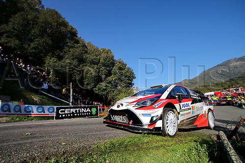 April 8th 2017, Island of Corsica; WRC Rally of Corsica, Day 2; 11- JuhoHANNINEN (FIN) Kaj LINDSTROM (FIN) TOYOTA YARIS WRC RC1 WRC