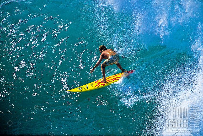 Surfing Honolua Bay, Maui