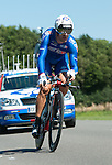 SITTARD, NETHERLANDS - AUGUST 16: David Boucher of France riding for FDJ competes during stage 5 of the Eneco Tour 2013, a 13km individual time trial from Sittard to Geleen, on August 16, 2013 in Sittard, Netherlands. (Photo by Dirk Markgraf/www.265-images.com)