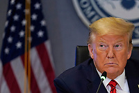 United States President Donald J. Trump attends a teleconference with governors at the Federal Emergency Management Agency headquarters, Thursday, March 19, 2020, in Washington.<br /> Credit: Evan Vucci / Pool via CNP/AdMedia