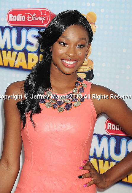 LOS ANGELES, CA- APRIL 27: Actress Coco Jones arrives at the 2013 Radio Disney Music Awards at Nokia Theatre L.A. Live on April 27, 2013 in Los Angeles, California.