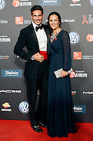 Spanish bullfighter Oscar Garcia Higares and his wife Sandra Alvarez during Barcelona 5th AIDS Ceremony. November 24,2014.(ALTERPHOTOS/Acero) /NortePhoto<br />