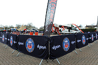 A general view of Dyson branding in and around the stadium. The Clash, Aviva Premiership match, between Bath Rugby and Leicester Tigers on April 7, 2018 at Twickenham Stadium in London, England. Photo by: Rob Munro for Onside Images