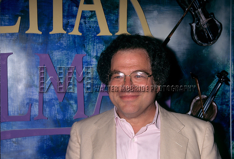 "Itzhak Perlman pictured at the HMV Record Store promoting his new CD ""In the Fiddler's House"" in New York City on July 8, 1996. © Walter McBride / Retna Ltd."