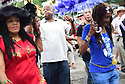 Members of the Baby Doll Sisterhood second line in memory of Baby Doll Tee Eva Perry, who died at 83 on June 7, in New Orleans, La. Monday, June 11, 2018. Cinnamon Black, James Andrews, Glenn Hall and Merline Kimble