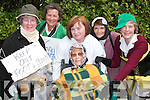 Queen of Fashion: In the Fancy Dress parade in Lixnaw on Sunday were Kathleen Lenihan, in wheelchair, with back from left, Narrie Lenihan, Carmel Quilter ONeill, Debbie Heaphy, Nancy Keane and Mary Ann OSullivan..