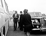 Beatles 1967 Paul McCartney with Mal Evans at astop during  Magical Mystery Tour....