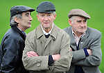 Kilgarvan GAA Club  Chairman  Tom Randles, centre, with club officers James O'Riordan, left,    Jerh Lyne, recreate a scene from 'The Field'   at the Kilgarvan GAA Club field . Picture: Eamonn Keogh (MacMonagle, Killarney)