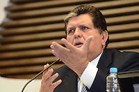 SAO PAULO, 25 DE MAIO DE 2012 - ALAN GARCIA NA FIESP - O ex-presidente do Peru, Alan Garcia, em seminário Comércio e Investimentos Brasil-Peru, na manha desta sexta-feira , na Federação das Indústrias do Estado de São Paulo (Fiesp). FOTO:ALEXANDRE MOREIRA - BRAZIL PHOTO PRESS