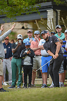 Tyrrell Hatton (ENG) chips from the gallery on 5 during day 4 of the WGC Dell Match Play, at the Austin Country Club, Austin, Texas, USA. 3/30/2019.<br /> Picture: Golffile | Ken Murray<br /> <br /> <br /> All photo usage must carry mandatory copyright credit (© Golffile | Ken Murray)