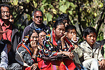 Guests at a wedding in Shirui, a Tangkhul Naga village in Manipur
