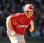 USC catcher Kyle Enders (18) hits during a game between the Clemson Tigers and South Carolina Gamecocks Saturday, March 6, 2010, at Fluor Field at the West End in Greenville, S.C. Photo by: Tom Priddy/Four Seam Images