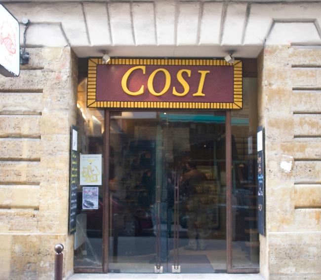 Exterior, Cosi Restaurant, Paris, France, Europe
