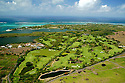An aerial view of Belle Mare Plage-Links Course, Mauritius.Designed by Peter Alliss and Rodney Wright. Picture Credit/ Phil Inglis.