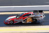 Sep 14, 2013; Charlotte, NC, USA; NHRA funny car driver Chad Head during qualifying for the Carolina Nationals at zMax Dragway. Mandatory Credit: Mark J. Rebilas-
